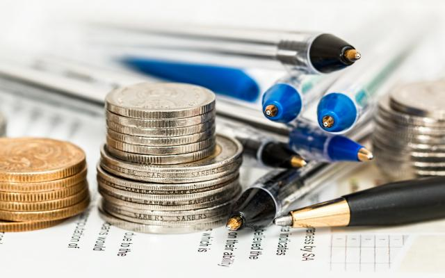 Money and pens